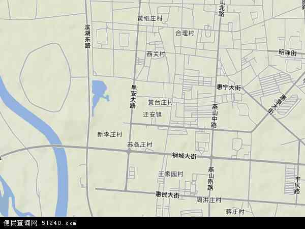 中国河北省唐山市迁安市迁安镇地图(卫星地图)
