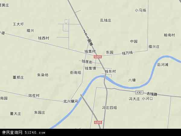 钱集镇地图 - 钱集镇卫星地图 - 钱集镇高清航拍地图