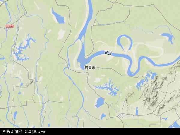 石首市地图- 石首市卫星地图- 石...