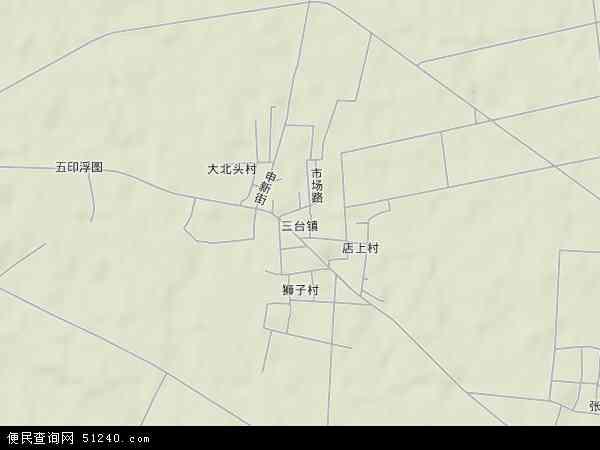 中国河北省保定市安新县三台镇地图(卫星地图)