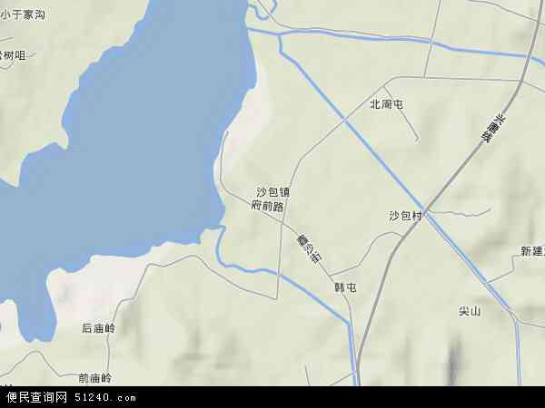 中国辽宁省大连市普兰店市沙包镇地图(卫星地图)