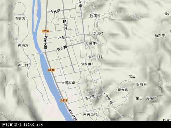 神木镇地图 - 神木镇卫星地图