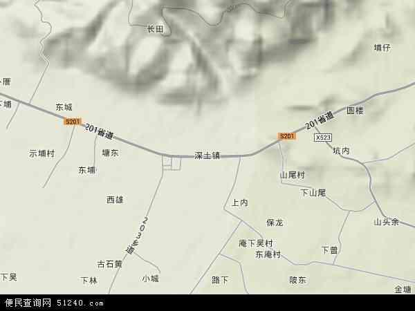 中国福建省漳州市漳浦县深土镇地图(卫星地图)