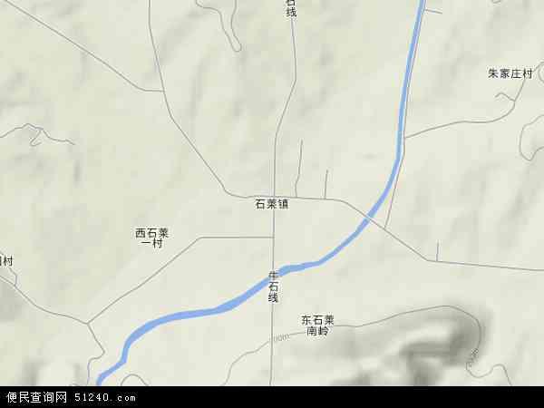 中国山东省泰安市新泰市石莱镇地图(卫星地图)