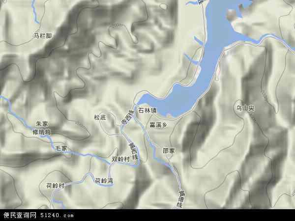 中国浙江省杭州市淳安县石林镇地图(卫星地图)