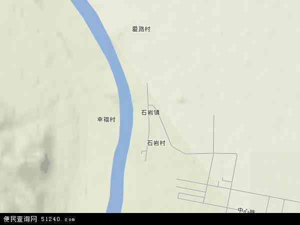 中国黑龙江省牡丹江市宁安市石岩镇地图(卫星地图)