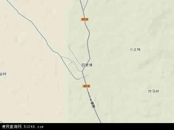 中国海南省省直辖县级行政区划东方市四更镇地图(卫星地图)