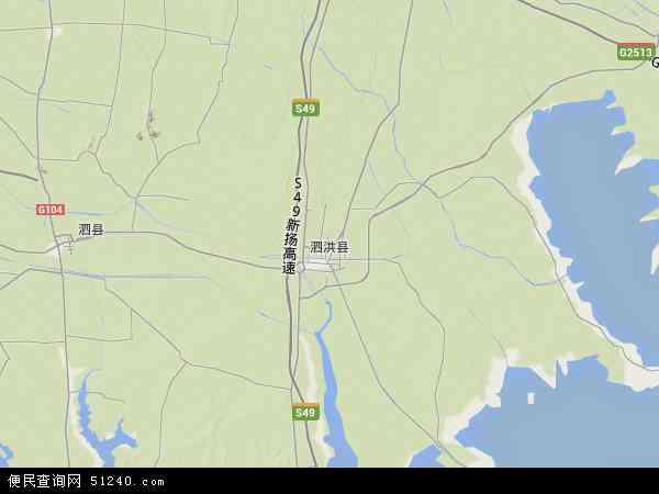 2015泗洪县地图高清版