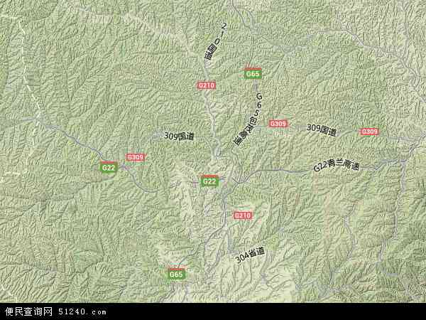 中国陕西省延安市富县寺仙镇地图(卫星地图)图片