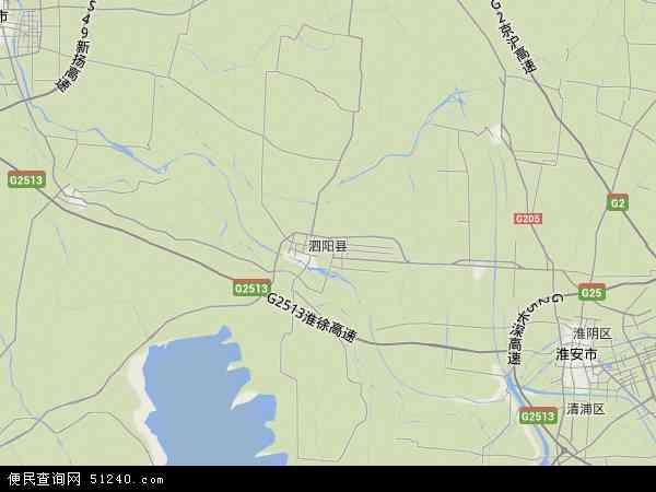泗阳县地图 - 泗阳县卫星地图