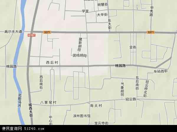 中国河北省保定市涿州市桃园地图(卫星地图)