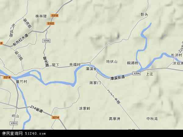 潭溪乡地图 - 潭溪乡卫星地图 - 潭溪乡高清航拍地图