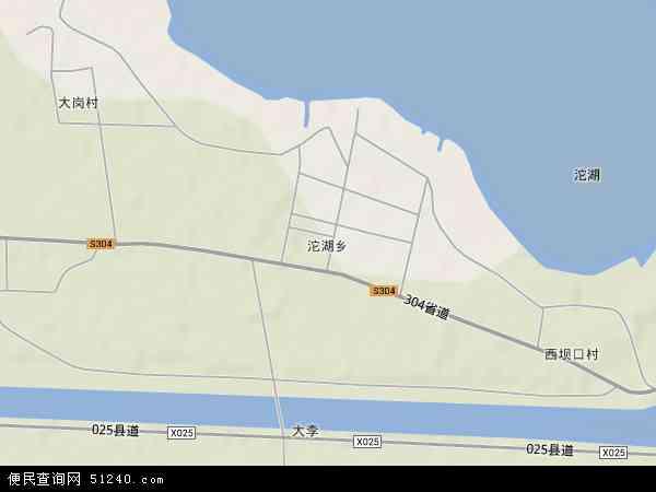 中国安徽省蚌埠市五河县沱湖乡地图(卫星地图)