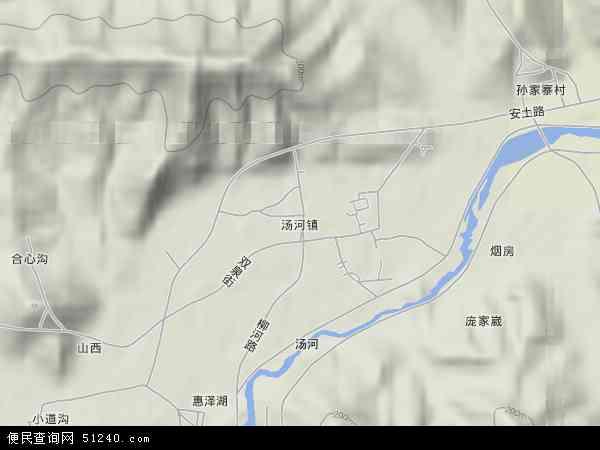 汤河镇地图 - 汤河镇卫星地图