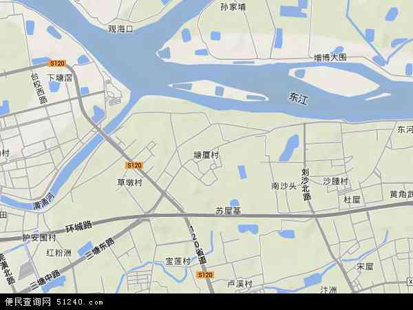 塘厦村地形图 - 塘厦村地形图高清版 - 2017年塘厦村地形图