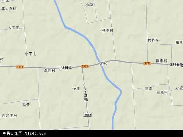 塔桥镇地形地图