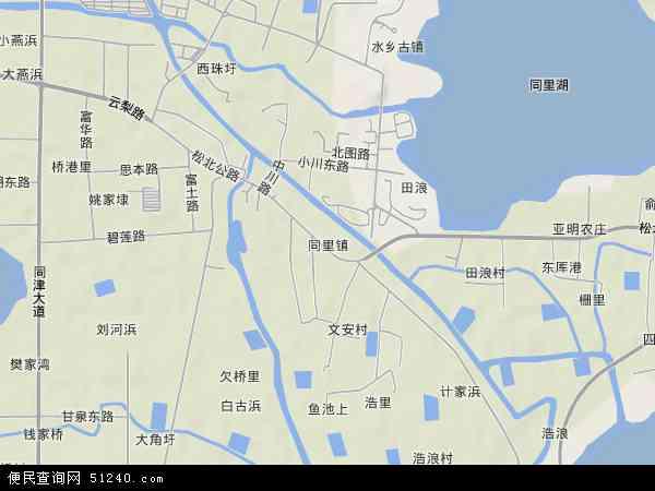 同里镇地图 - 同里镇卫星地图