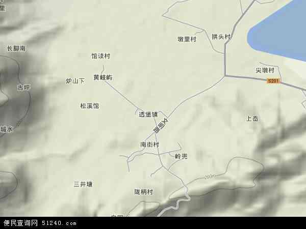 中国福建省福州市连江县透堡镇地图(卫星地图)