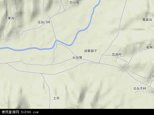 中国河北省承德市承德县头沟镇地图(卫星地图)