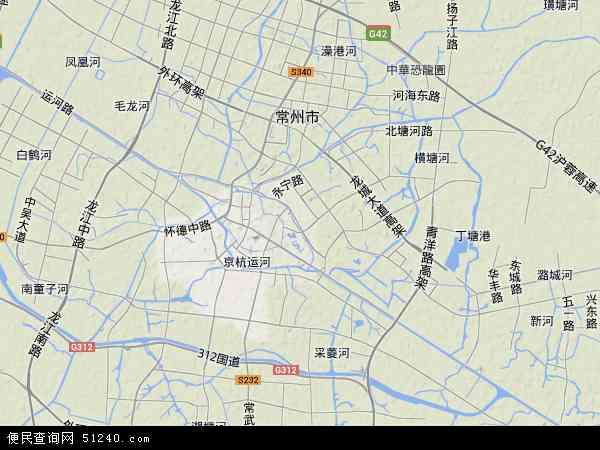 天宁区地图 - 天宁区卫星地图