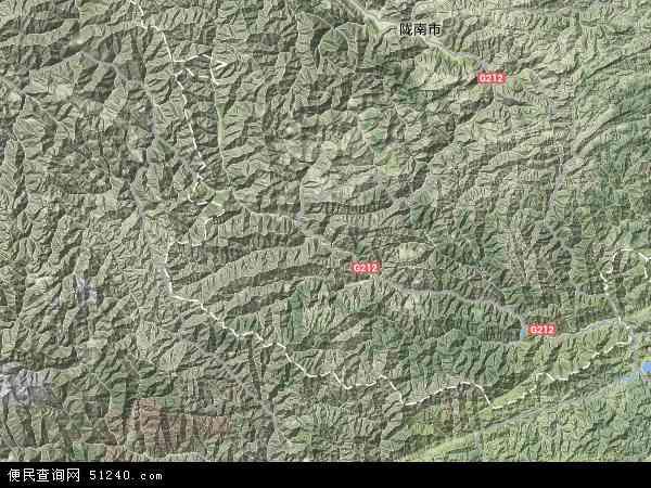 中国甘肃省陇南市文县地图(卫星地图)