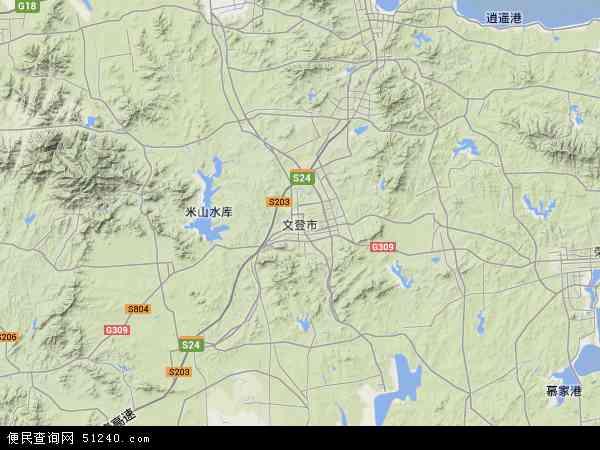 文登市地图 文登市卫星地图 文登市高清航拍地图 文登市高清卫星地图