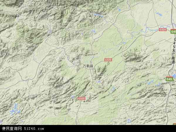 中国江西省宜春市万载县地图(卫星地图)图片