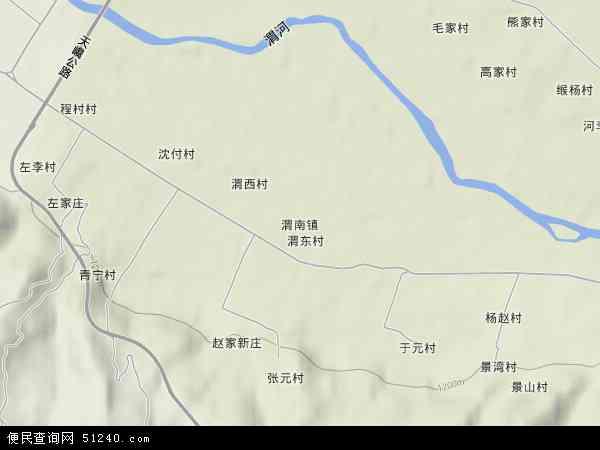 中国甘肃省天水市麦积区渭南镇地图(卫星地图)