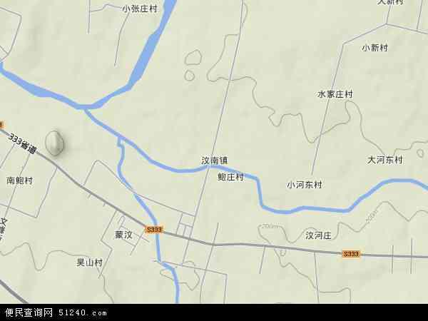 中国山东省泰安市新泰市汶南镇地图(卫星地图)