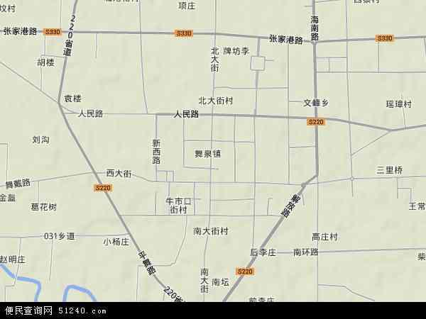 中国河南省漯河市舞阳县舞泉镇地图(卫星地图)