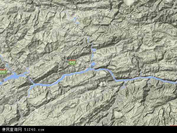 重庆巫山福田地图_巫山县地图 - 巫山县卫星地图 - 巫山县高清航拍地图