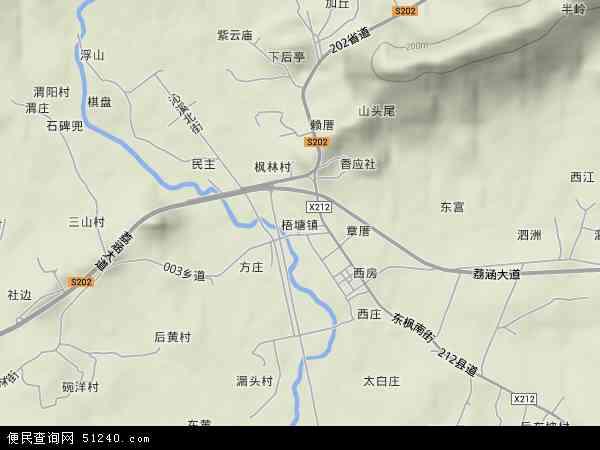 中国福建省莆田市涵江区梧塘镇地图(卫星地图)