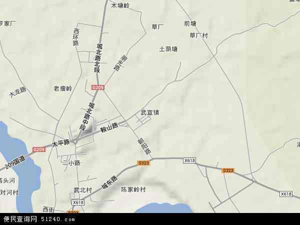 中国广西壮族自治区来宾市武宣县武宣镇地图