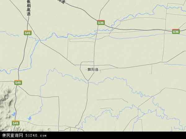中国河南省漯河市舞阳县地图(卫星地图)