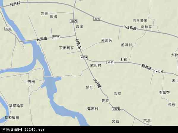 中国江西省南昌市南昌县武阳镇地图(卫星地图)