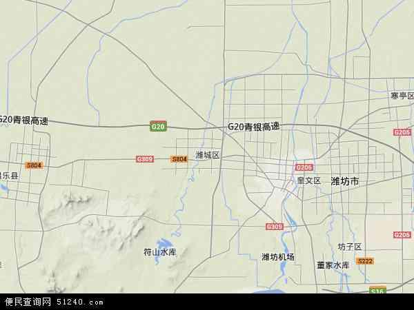 潍城区地图 潍城区卫星地图 潍城区高清航拍地图 潍城区高清卫星地图