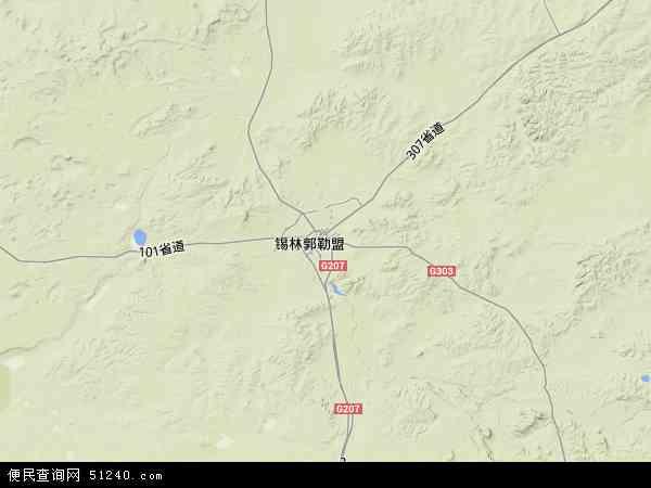锡林浩特市地图 - 锡林浩特市卫星地图