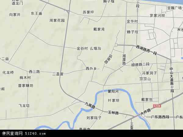 中国四川省德阳市广汉市西外乡地图(卫星地图)图片