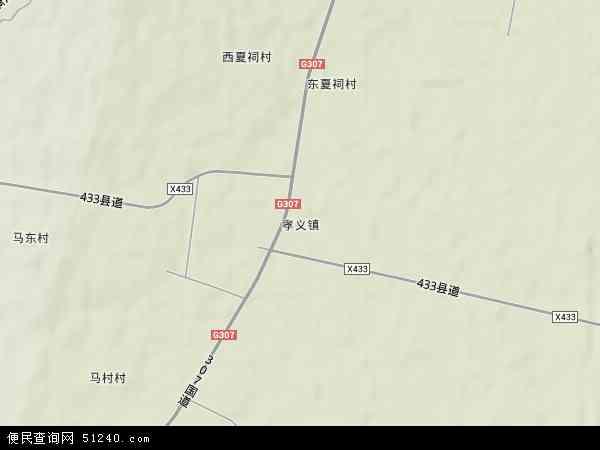 中国山西省吕梁市文水县孝义镇地图(卫星地图)