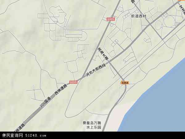 中国河北省秦皇岛市海港区西港镇地图(卫星地图)
