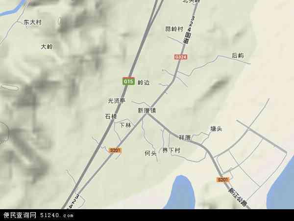 中国福建省福州市福清市新厝镇地图(卫星地图)