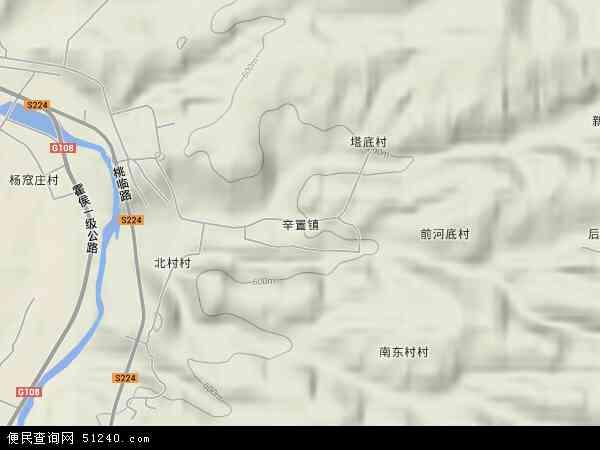 中国山西省临汾市霍州市辛置镇地图(卫星地图)