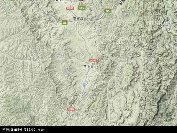 中国山西省晋中市昔阳县地图(卫星地图)