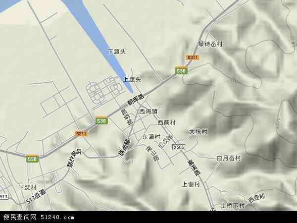 中国浙江省宁波市象山县西周镇地图(卫星地图)