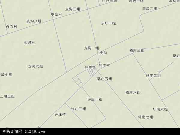 中国江苏省连云港市灌云县圩丰镇地图(卫星地图)图片