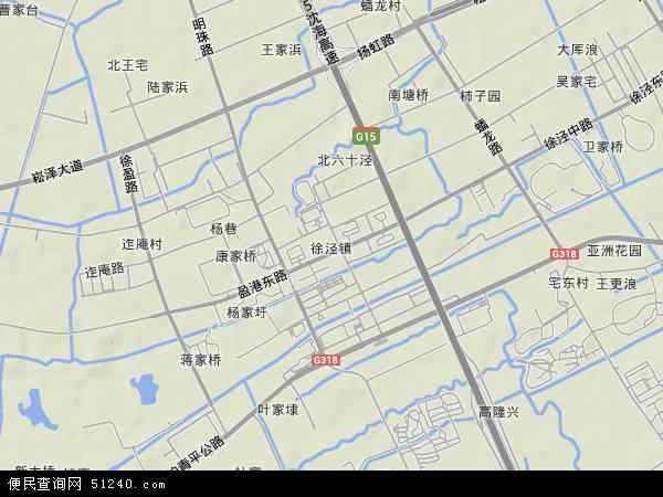 中国上海市青浦区徐泾镇地图(卫星地图)