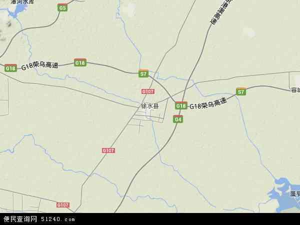中国河北省保定市徐水县地图(卫星地图)
