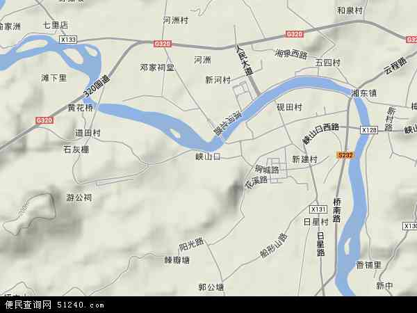 中国江西省萍乡市湘东区峡山口地图(卫星地图)