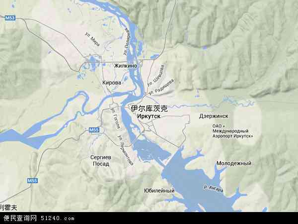 博茨瓦纳地图_伊尔库茨克地图 - 伊尔库茨克卫星地图 - 伊尔库茨克高清航拍地图