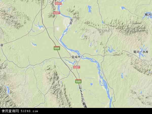 宜城市地图 - 宜城市卫星地图